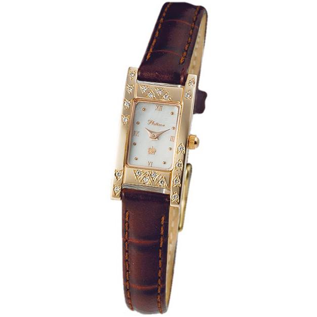 Женские золотые часы Мадлен арт. 90551А.316 - Золотые часы из золота 585 пробы, кварц, римская цифровка