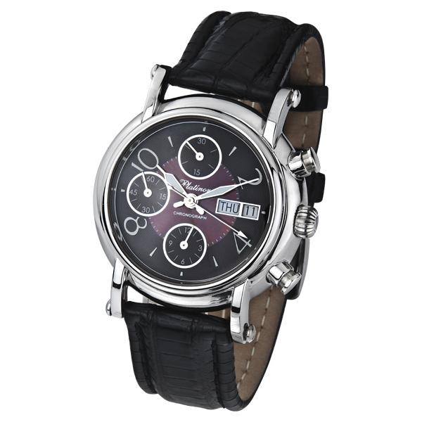 Мужские серебряные часы Адмирал-2 арт. 57100.806 - Мужские серебряные часы