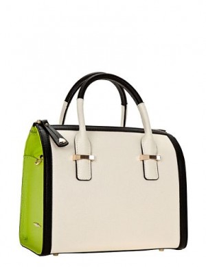 Сумка ELEGANZZA Z295-5360XL-1 white/green/black