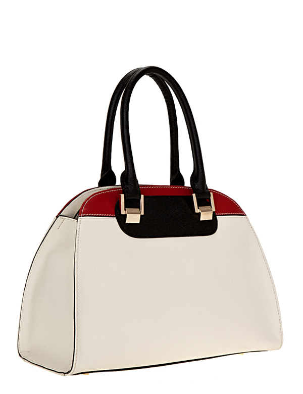 Сумка ELEGANZZA Z1D-3323 ivory/black/red